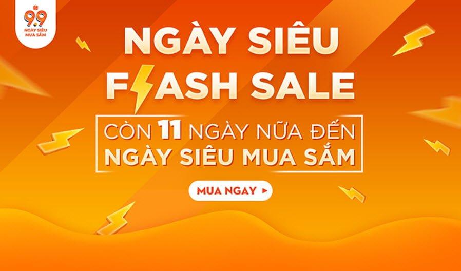 Tưng bừng ngày siêu flash sale giá khuynh đảo