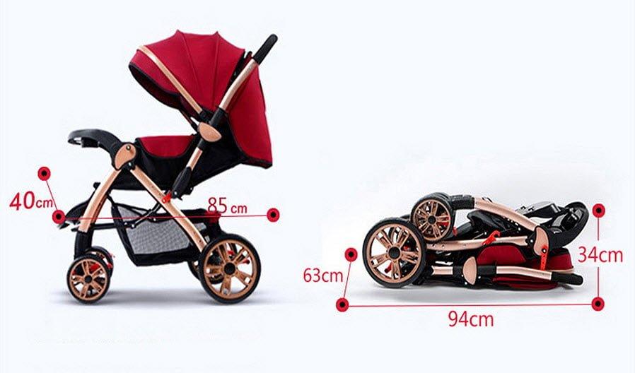 Kinh nghiệm chọn mua xe đẩy em bé gấp gọn tốt nhất 2019