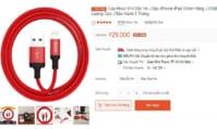 Cáp sạc Lightning chính hãng Hoco X14 (1m & 2m) cho Iphone / Ipad