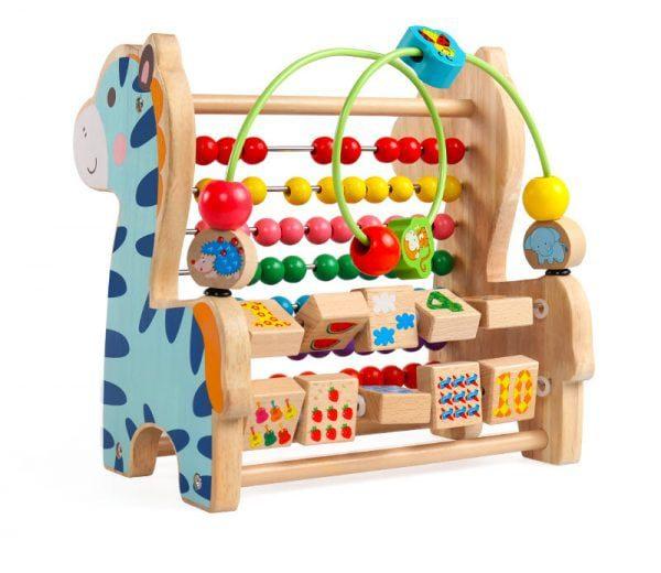 Đồ chơi bằng gỗ luồng hạt hinh khối