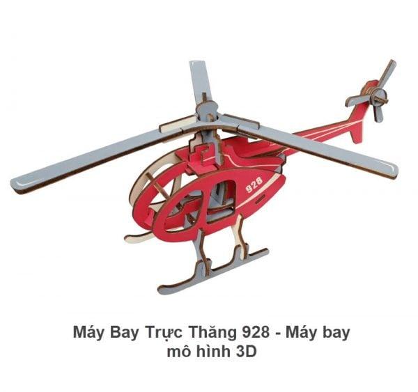 Máy bay trực thăng 928 - Máy bay mô hình 3D