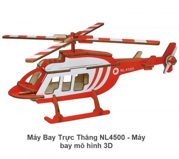 Máy bay trực thăng NL4500 - Máy bay mô hình 3D