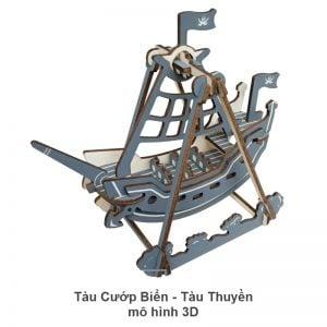 Tàu cướp biển - Tàu thuyền mô hình 3D
