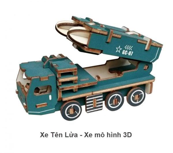 Xe tên lửa - Xe mô hình 3D