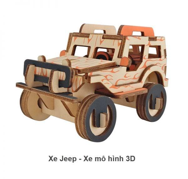 Xe jeep - Xe mô hình 3D