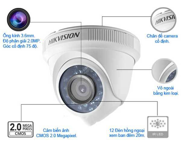 Camera an ninh Hikvision DS-2CE56D0T-IRP