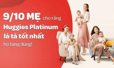 Huggies Platinum – thương hiệu tả cao cấp cho bé yêu nhà bạn