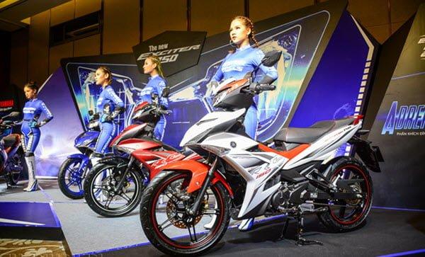 Những chiếc xe của Yamaha mang vẻ đẹp bắt mắt nhờ vào màu sắc sang chảnh vô cùng năng động và kiểu dáng rất thời trang