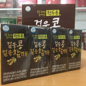 [Hanmi] - Sữa Hạt Đậu Đen - Mè Đen 190ml (4 hộp) - Sữa Hạt Hàn Quốc
