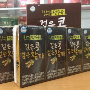 [Hanmi] - Sữa Hạt Đậu Đen - Mè Đen 190ml (8 hộp) - Sữa Hạt Hàn Quốc