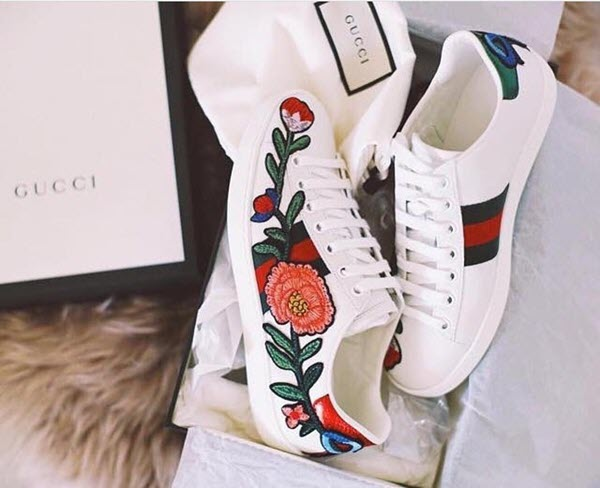 Giày sneaker nữ Gucci Ace Low-top Floral
