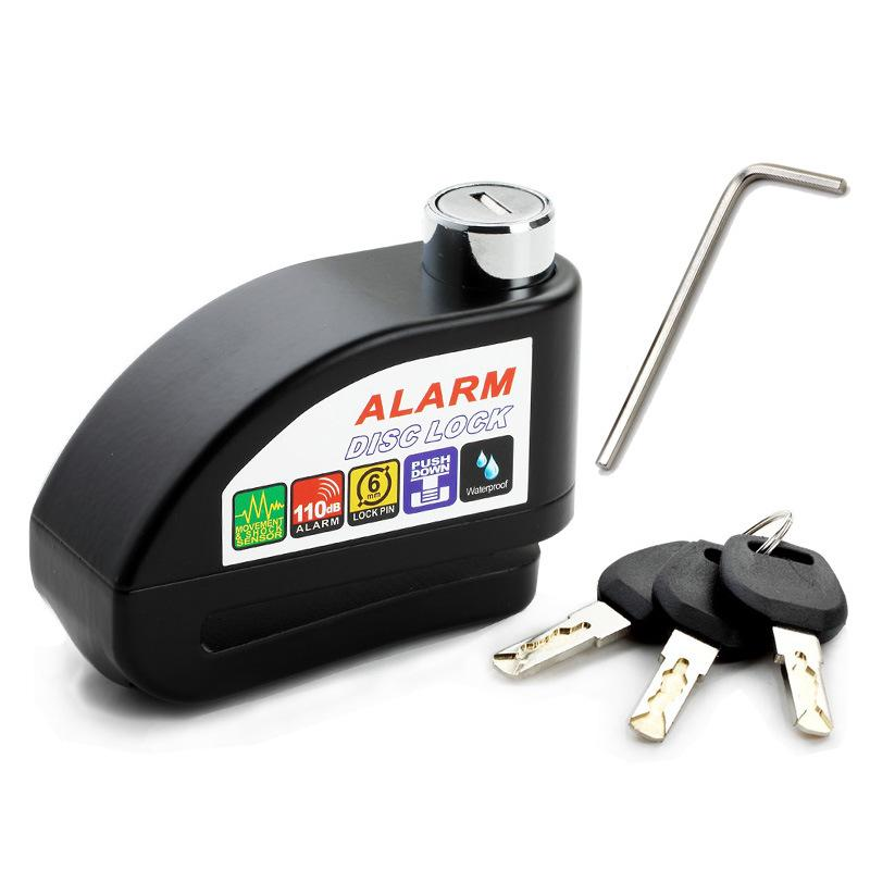 Bộ khóa đĩa xe máy chống trộm có hú báo động trộm thấy phải né