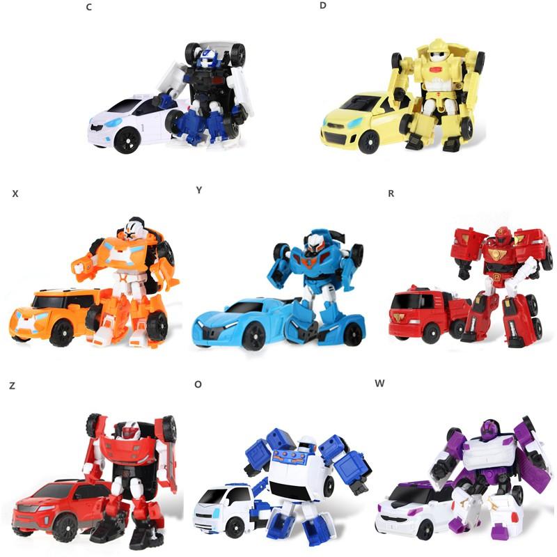 Bộ xe đồ chơi biến hình rô bốt cho bé