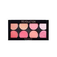 Bảng 3 in 1 phấn má/highlight/ tạo khối Makeup Revolution Ultra Blush Palette