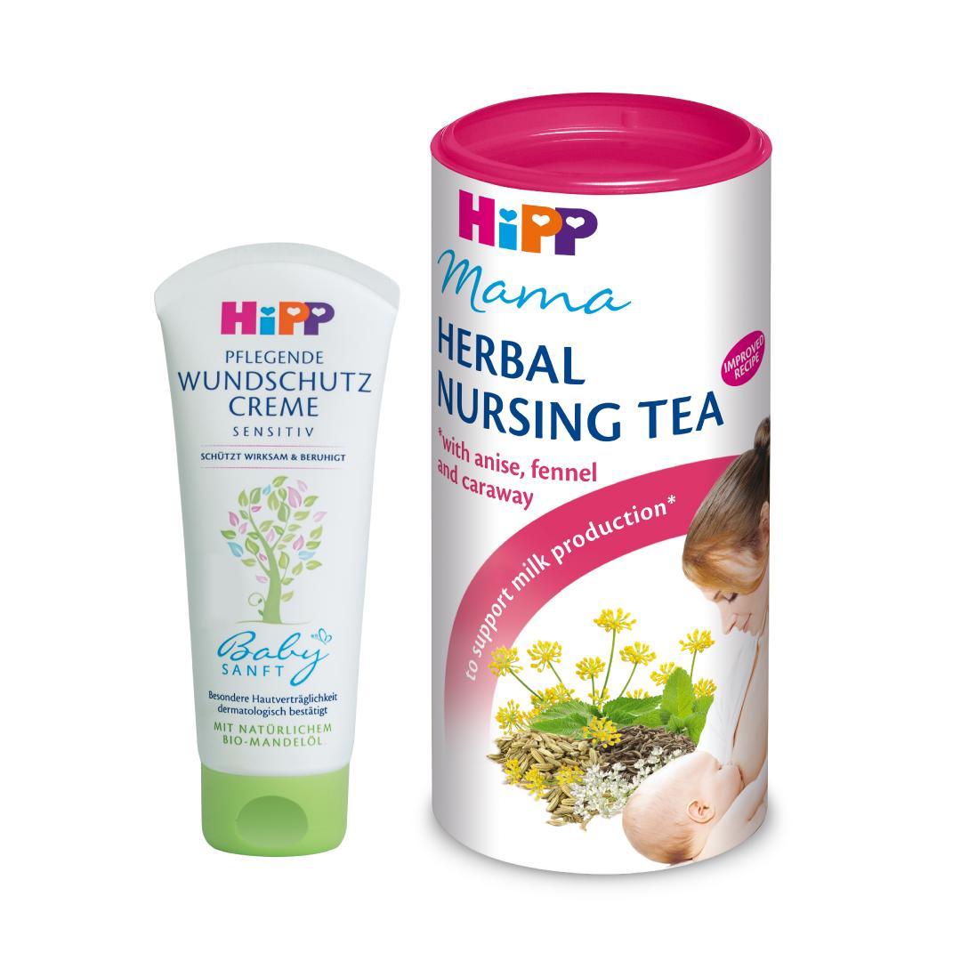 Combo trà lợi sữa cho mẹ sau sinh và Kem chống hăm-dưỡng da cho trẻ
