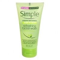 Gel Rửa Mặt Simple Refreshing Facial Wash 50ml - Dành Cho Da Nhạy Cảm