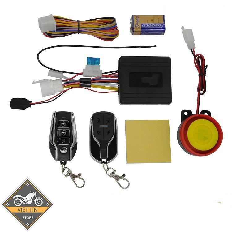 Khóa báo động chống trộm xe máy điều khiển từ xa 4 nút thông minh thế hệ mới ( giá 330k) - Kmart