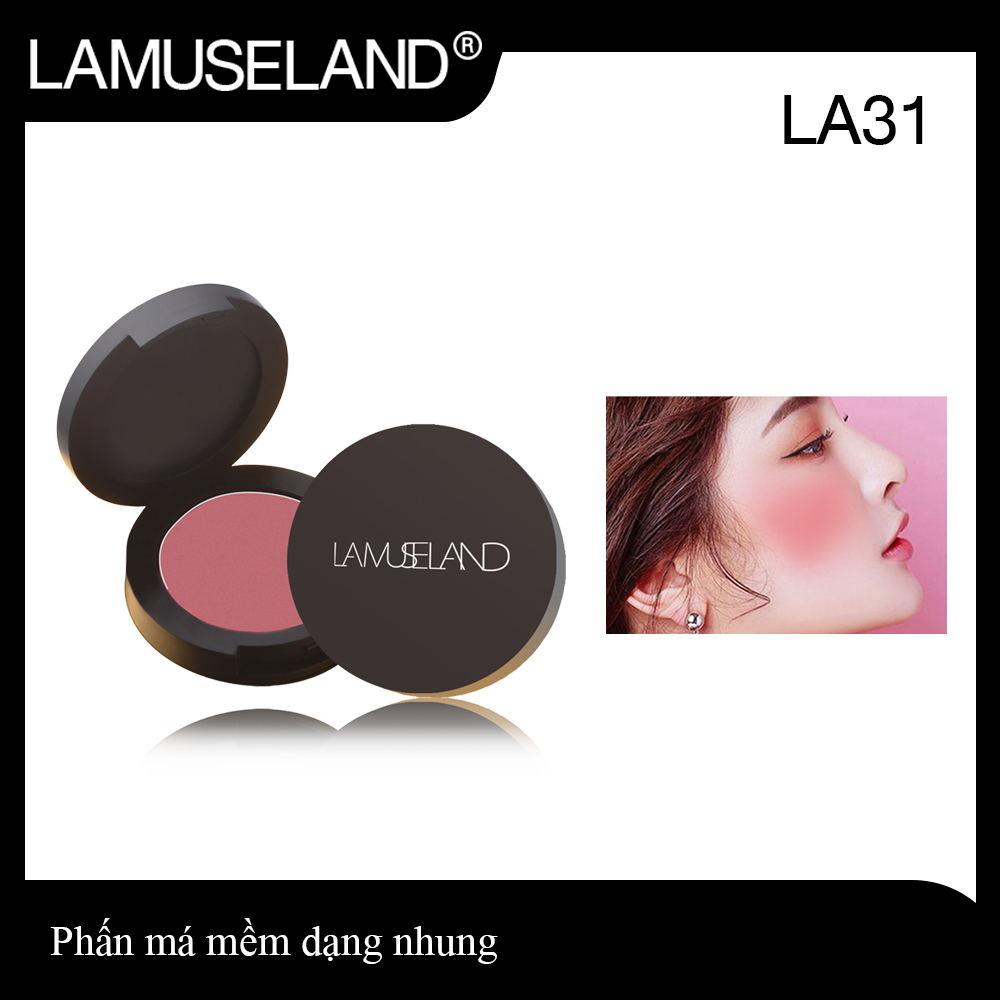 LAMUSELAND Phấn má hồng; Mềm mịn, cải thiện sắc tố da, giữ màu lâu trôi, tự nhiên#LA31 Má hồng,phấn má trang điểm
