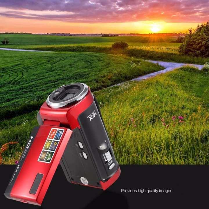 Máy quay phim cầm tay ELITEK HD DIGITAL VIDEO 16X(Đỏ)