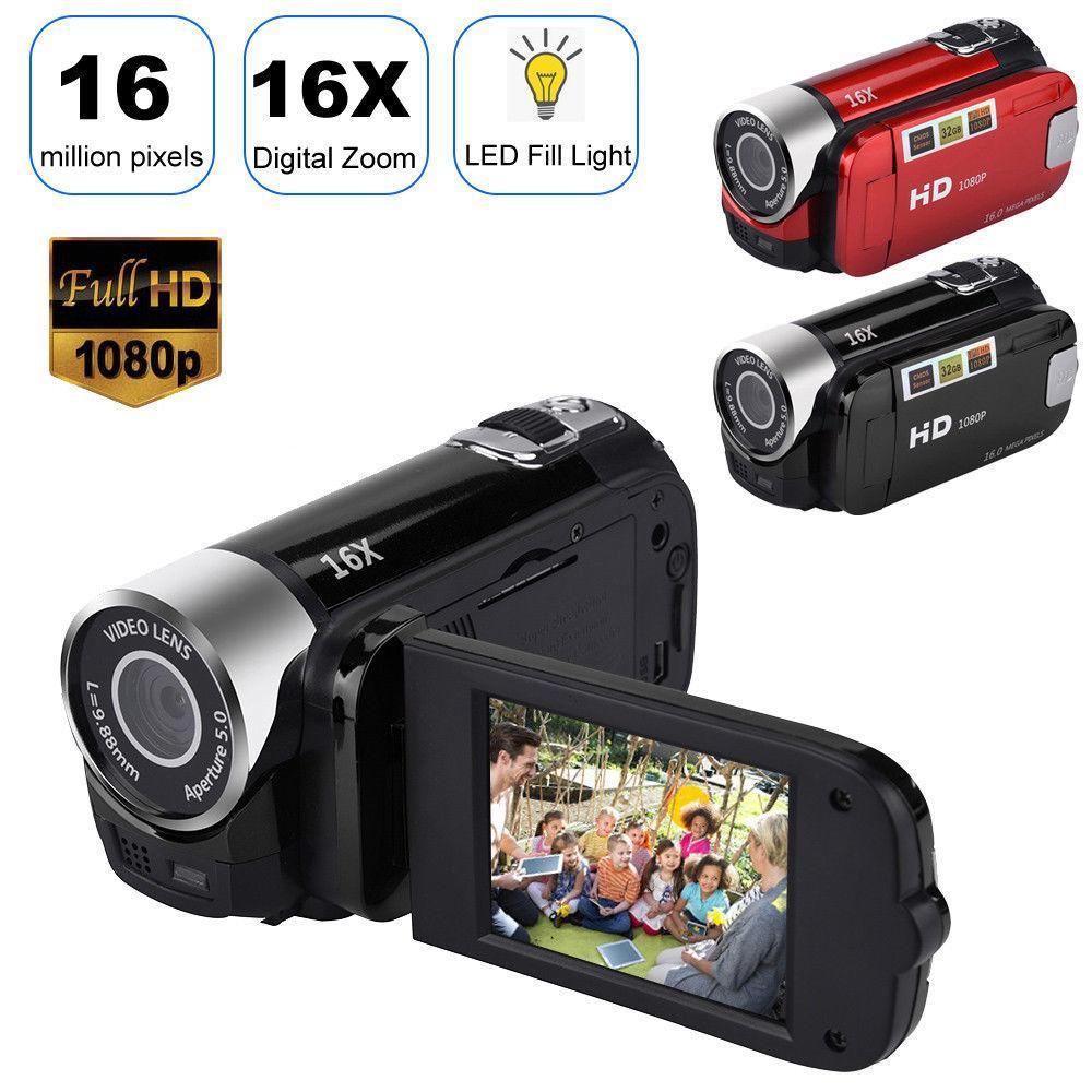 Máy Quay Video 16X Zoom Kỹ Thuật Số HD Cầm Tay Máy Ảnh Kỹ Thuật Số Màn Hình LCD 2.7 inch