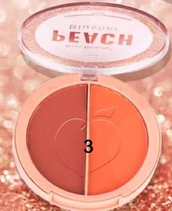 Phấn má hồng 2 ô Cam đào KISS BEAUTY - PEACH Blusher 83091