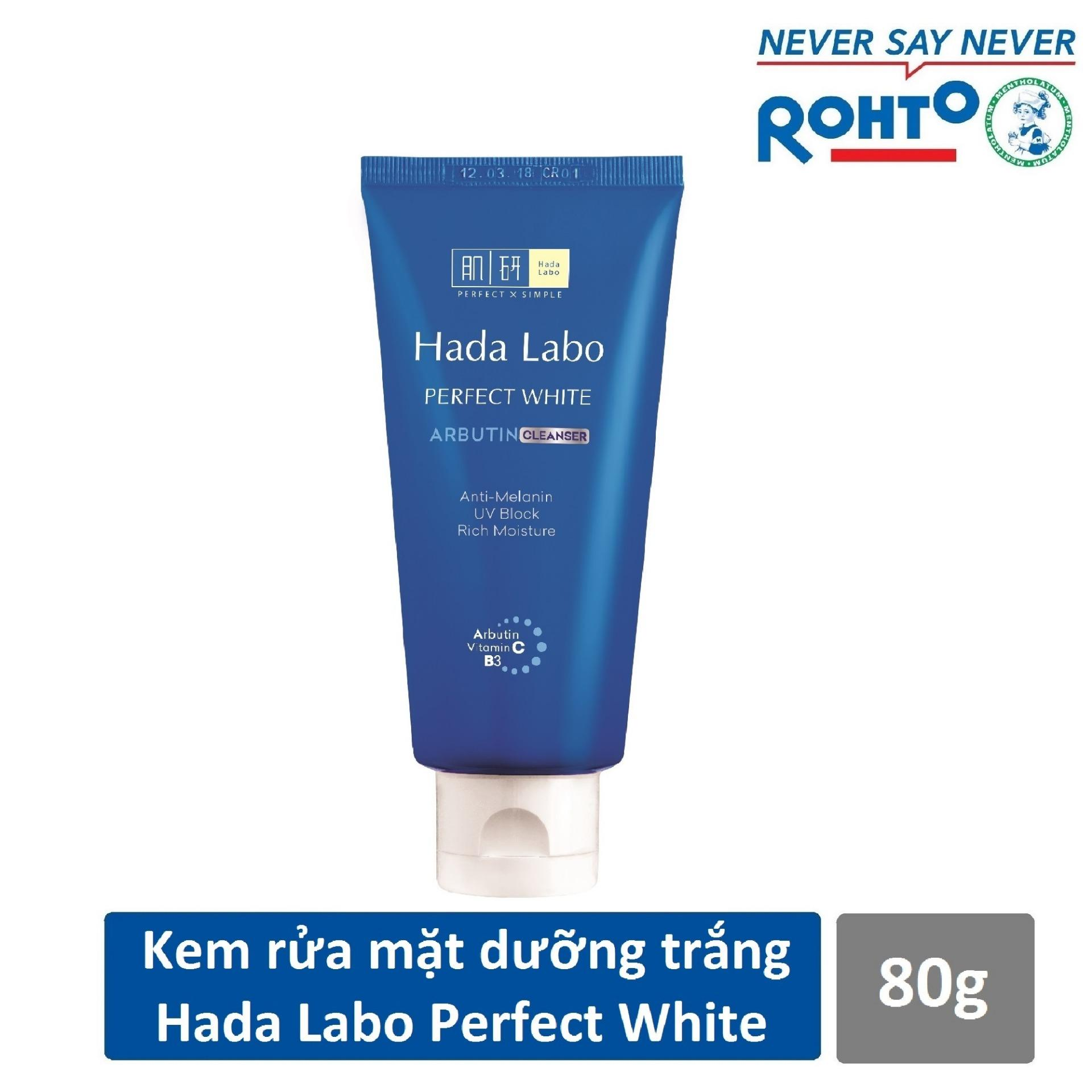 Sữa rửa mặt dưỡng trắng Hada Labo Perfect White Cleanser 80g