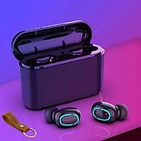 Tai Nghe Bluetooth 5.0 (Tai Nghe Không Dây) HBQ - Nhỏ gọn - Chống Nước IPX7 - Nghe 90h - Tích Hợp Micro - Tự Động Kết Nối - Tặng Móc Chìa Khoá LAVATINO Chính Hãng