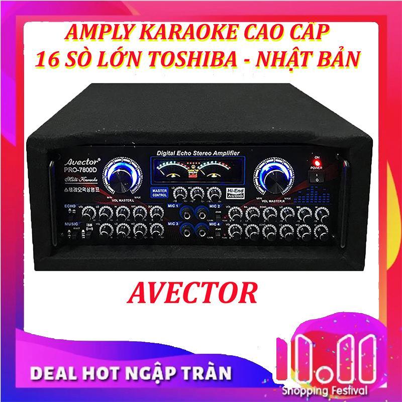 【Tặng 2 micro không dây】Amply karaoke nghe nhạc hội thảo AVECTOR CÔNG SUẤT LỚN 7800 2400W