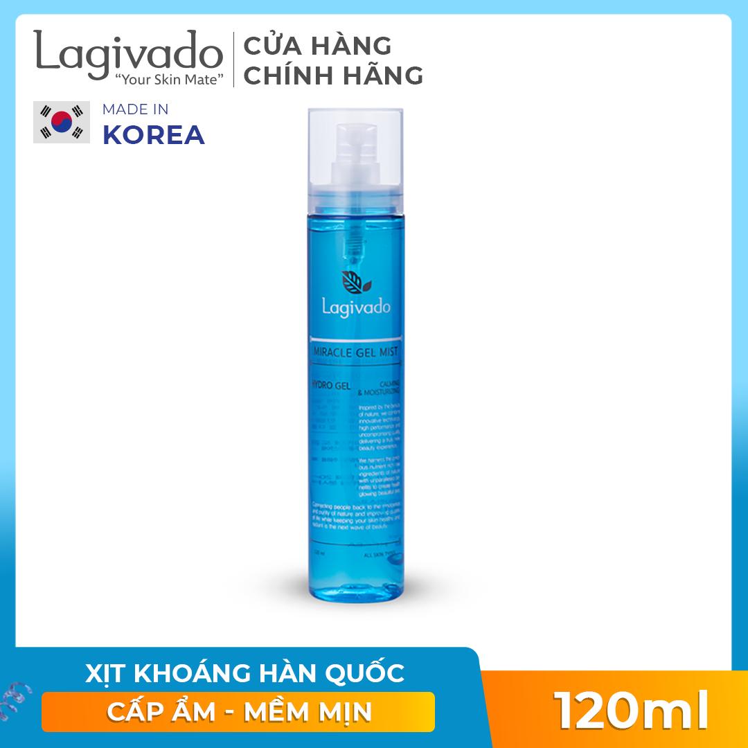 Xịt Khoáng dưỡng da Hàn Quốc Lagivado Miracle Gel Mist 120 ml