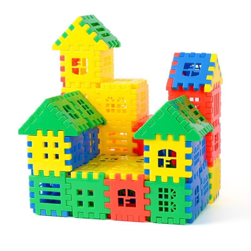 Bộ Đồ Chơi Xếp Hình Bằng Nhựa ( 44 Chi Tiết ) Cho Bé Sáng Tạo - Xếp Hình Ngôi Nhà Bricks Set - Chợ Lớn Giá Sỉ