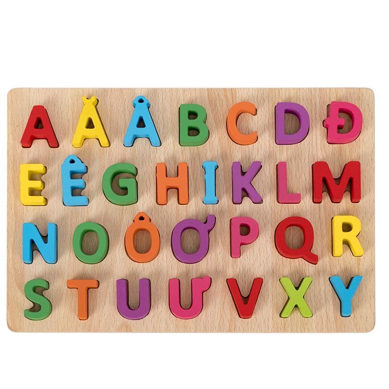 Bảng chữ cái tiếng việt đồ chơi bằng gỗ trí tuệ dành cho bé yêu