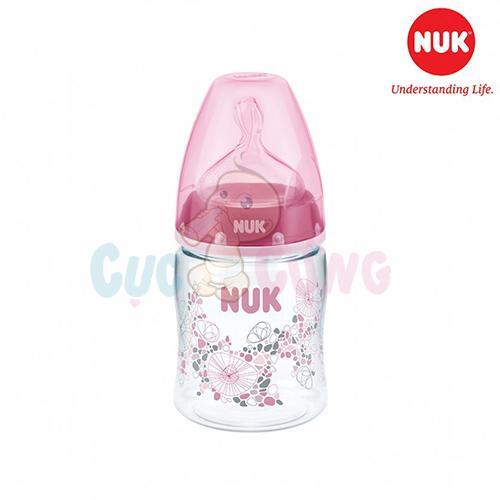 Bình sữa NUK cổ rộng nhựa PA 150ml - Ty Silicone 1M