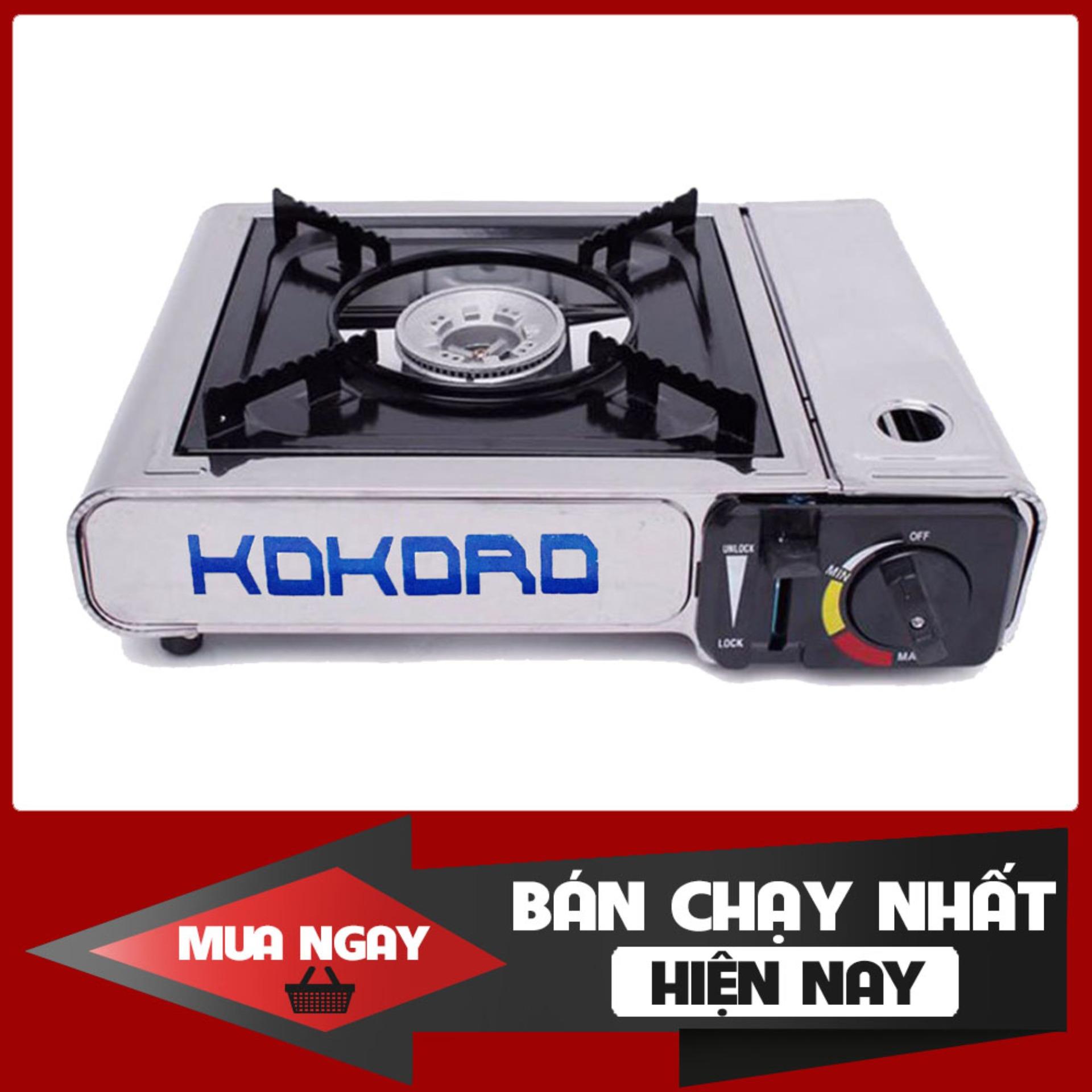 Bếp gas du lịch Kokoro toàn thân inox 100% (bếp ga mini chống cháy nổ - an toàn sử dụng) - bep ga mini, bep gas mini, bep ga, bep du lich Namilux