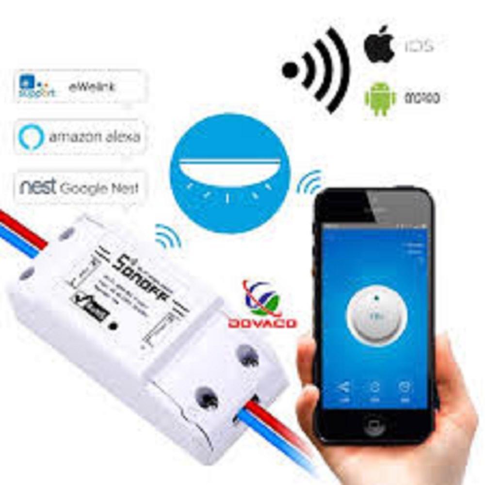 Công tắc thông minh Sonoff Basic (Quốc Tế - Tiếng Anh) điều khiển từ xa qua WIFI 3G 4G - Bảo hành 3 tháng