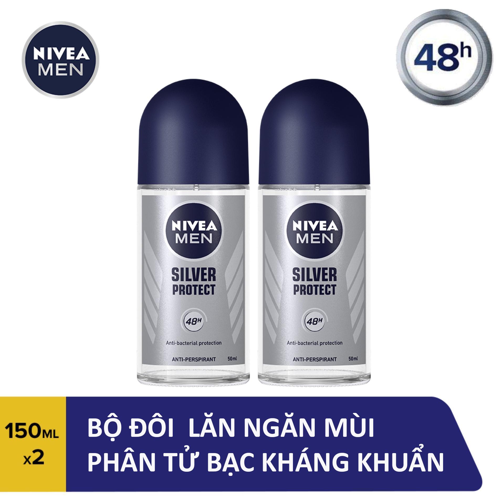 Combo 2 Lăn Ngăn Mùi Nam Phân Tử Bạc Nivea 50ml - 83778
