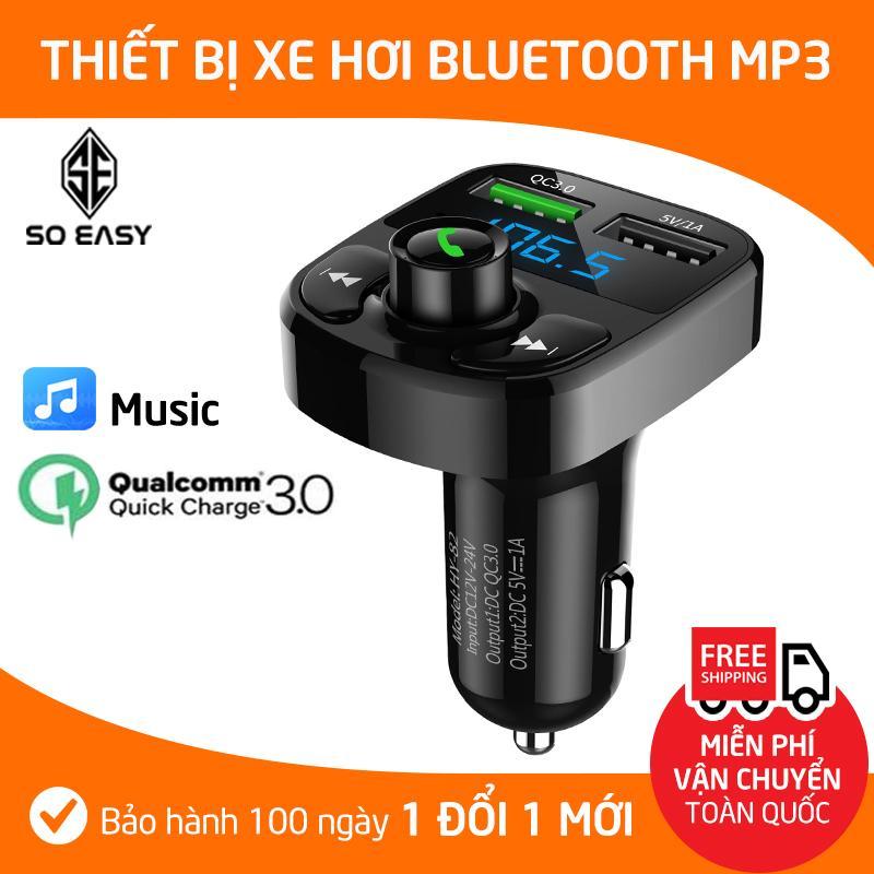 Dock, Tẩu, Cốc MP3 Cho Xe Hơi, Xe Ôtô Kết Nối Bluetooth, Nghe Nhạc, Sạc Pin, Nghe Điện Thoại Rãnh Tay, sang trọng nhỏ gọn (MP3) _Đen