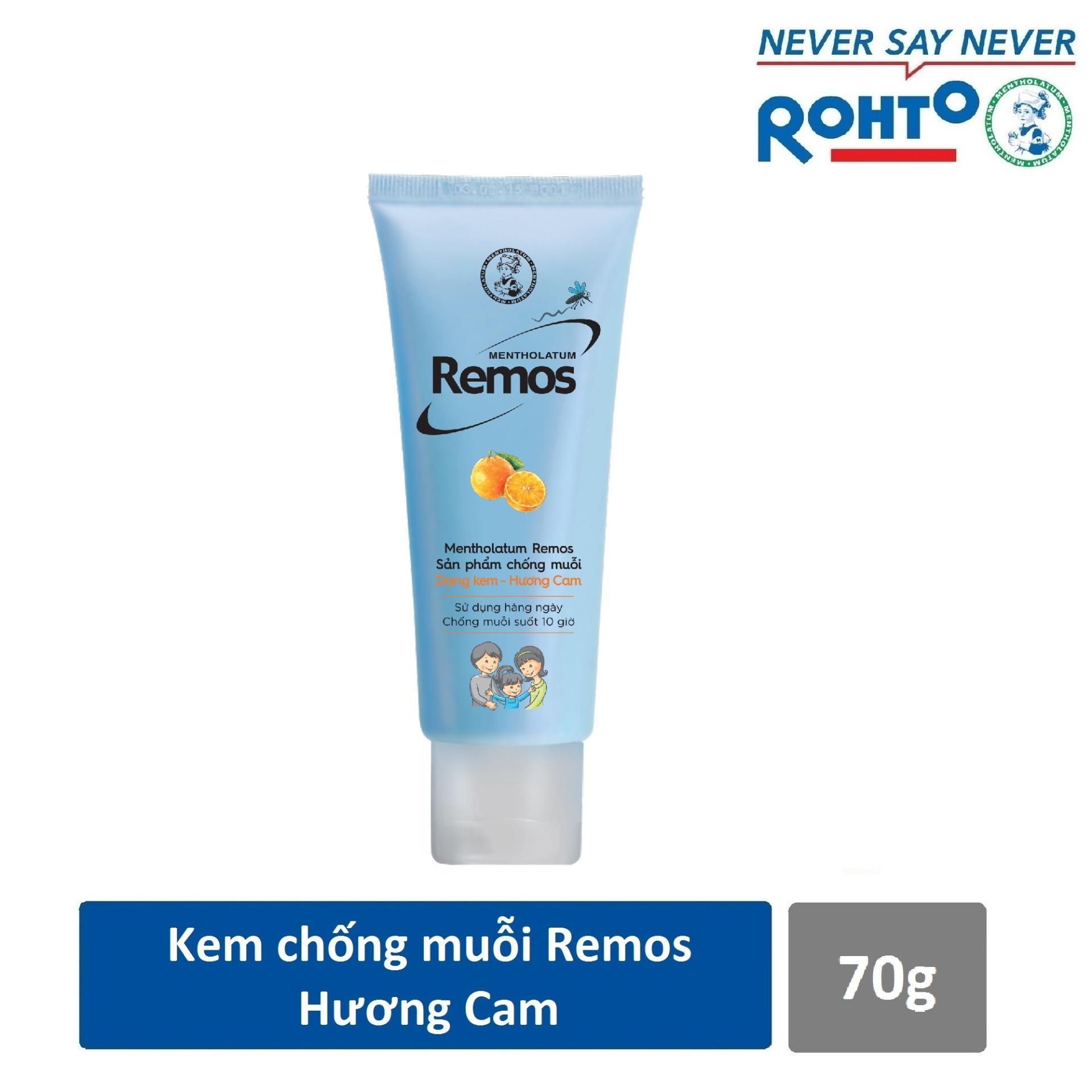Kem chống muỗi Rohto Mentholatum Remos Hương Cam 70g