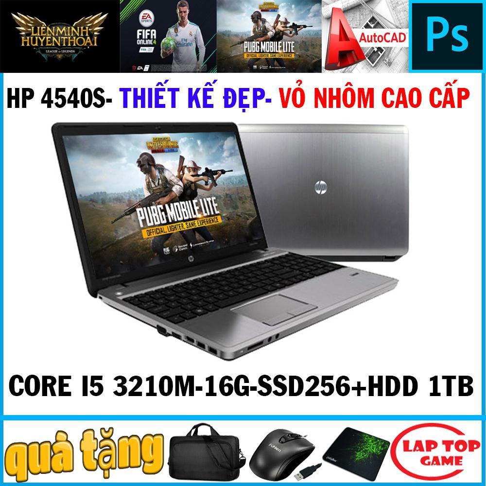 laptop chơi game đồ họa thiết kế đẹp HP 4540S Core i5-3210M/ Ram 16GB/ SSD256+HDD 1tb, VGA HD 4000, màn 15.6″ HD LED, dòng máy thiết kế đẹp, bền bỉ