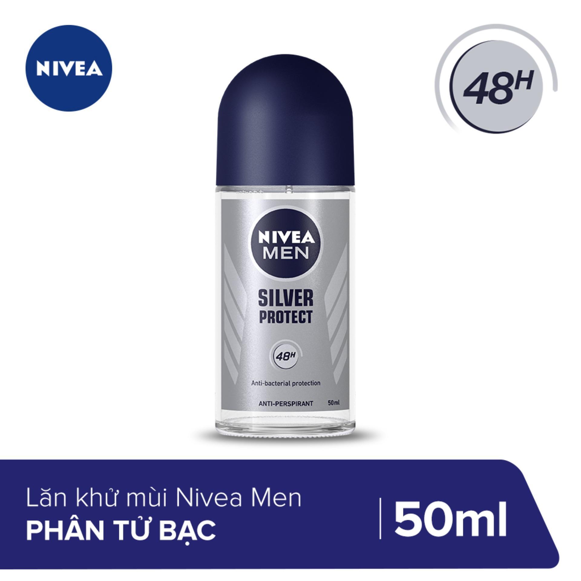 Lăn Khử Mùi Nam Phân Tử Bạc Nivea 50ml - 83778