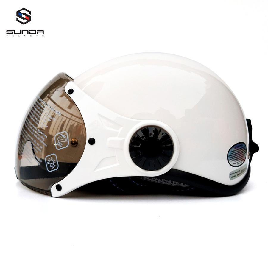 Mũ bảo hiểm nửa đầu có kính Sunda 136B