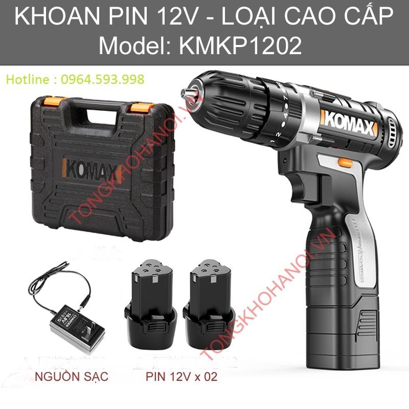 Máy khoan Pin Komax Công suất 12V, Model KMKP1202