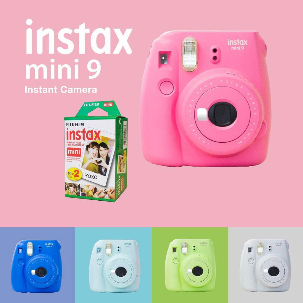 Máy ảnh chụp lấy liền FujiFilm Instax Mini 9 ( tặng kèm phim Fujifilm )
