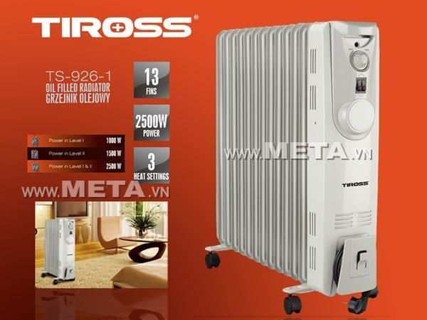Máy sưởi dầu Tiross 13 thanh TS926-1
