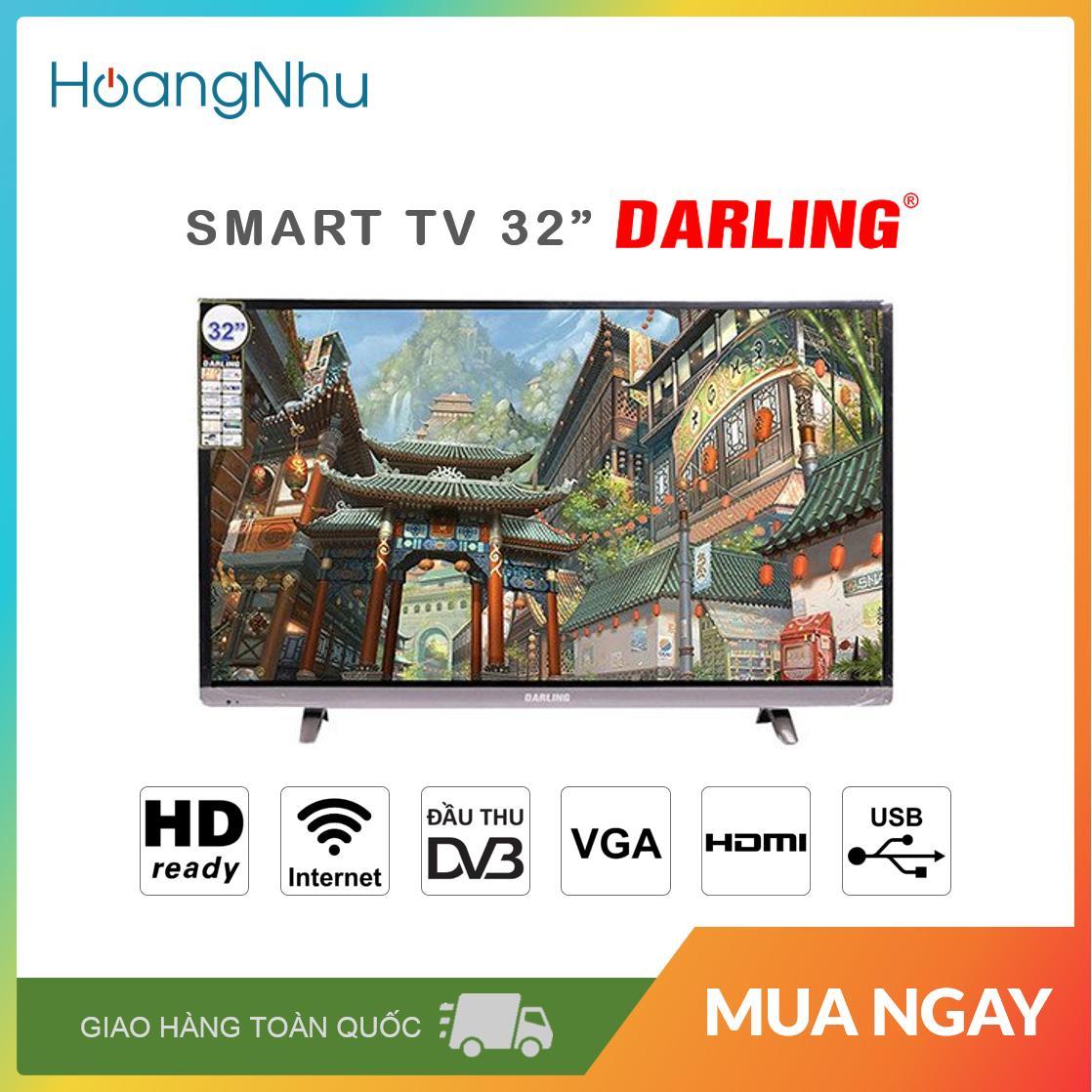 Smart Tivi Darling 32 inch Kết nối Internet Wifi Model 32HD960S1 / 32HD966S (mẫu nâng cấp của 32HD960S, HD Ready, Android 7.1.1, Truyền hình KTS, màu đen) - Bảo hành toàn quốc 2 năm