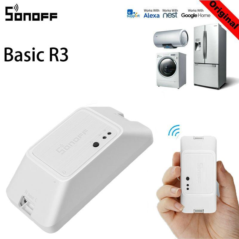 S_way 《 Ban Đầu 》 SonOFF Basic R3 Phát Wifi SONOFF S20 RF RM433 Tù Binh R2 433 RF Cầu Điều Khiển từ xa không dây Nhà Thông Minh Hẹn Giờ thông qua Alexa