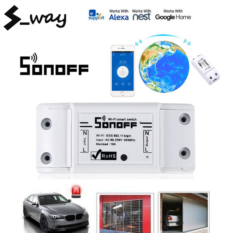 S_way R2 Wifi DIY Thông Minh Không Dây Chuyển Đổi Từ Xa Domotica Đèn Điều Khiển Module Làm Việc Với Alexa Google Nhà EweLink