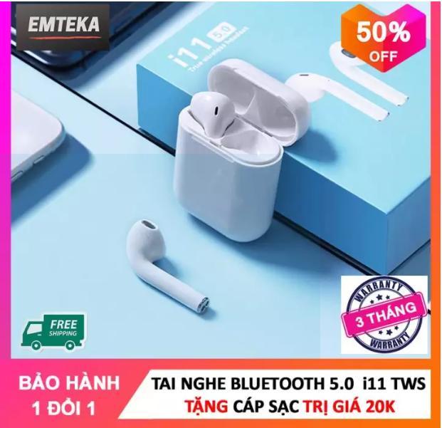 Tai Nghe Bluetooth i11 Bản Plus Âm Thanh v5.0 Nút Cảm Ứng Hỗ Trợ Bảo Hành 1 Năm, Tai Nghe Không Dây, Tai Nghe Bluetooth Hỗ Trợ Mọi Điện Thoại Cảm Ứng, Tai nghe i7s