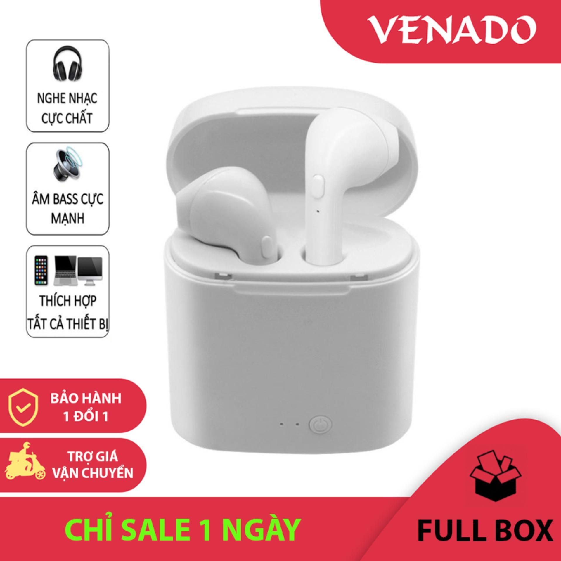 Tai Nghe Bluetooth Không Dây i7s TWS - Venado tai nghe không dây i7s âm thanh chất lượng cao, bảo hành 1 đổi 1, hàng đã test trước khi giao hàng, tai nghe nhét tai chất lượng cao i7s