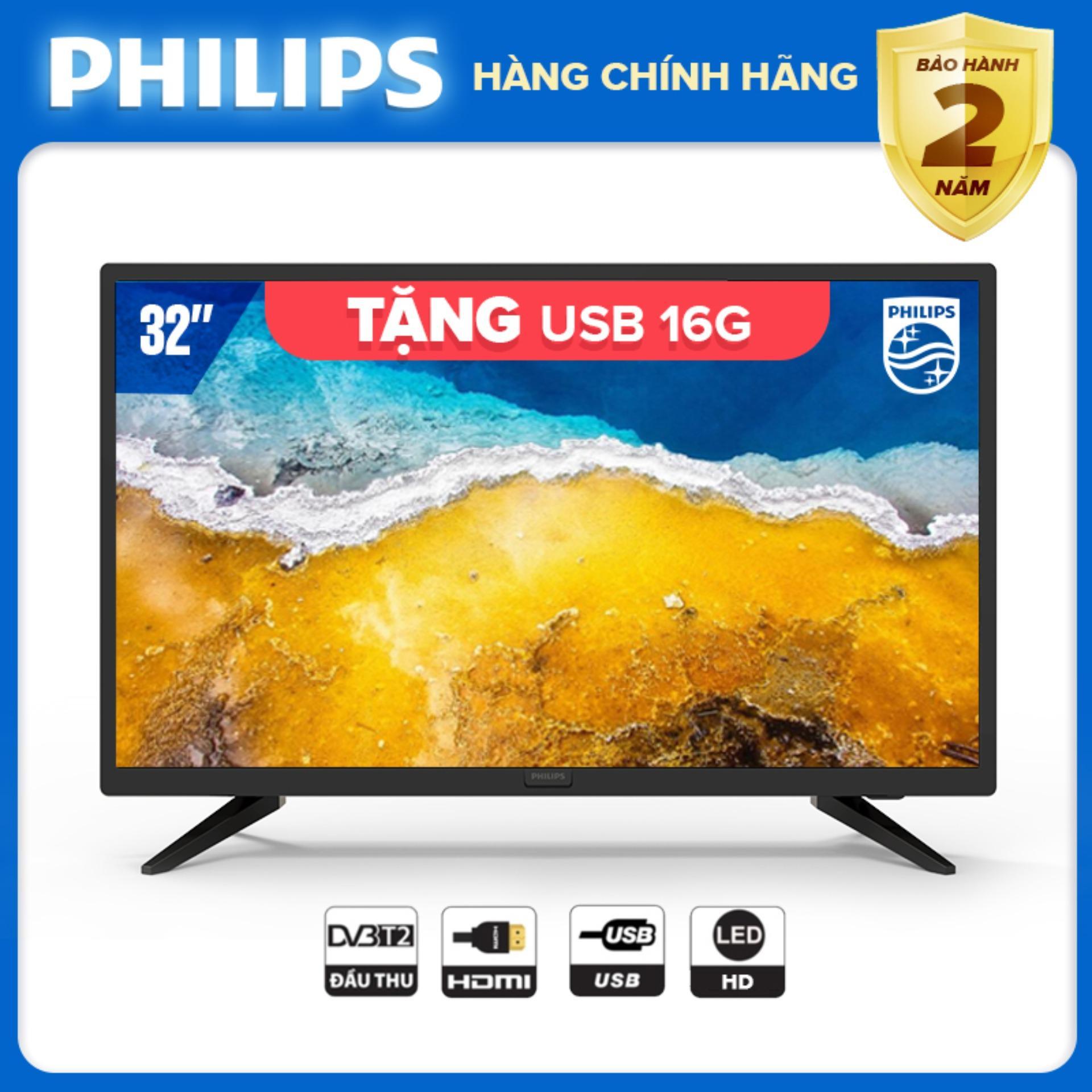 TIVI 32 INCH LED HD 32PHT4003S/74 PHILIPS TV HÀNG THÁI LAN - DIGITAL TV DVB-T2 TẶNG QUÀ USB 16G - BẢO HÀNH 2 NĂM TẠI NHÀ