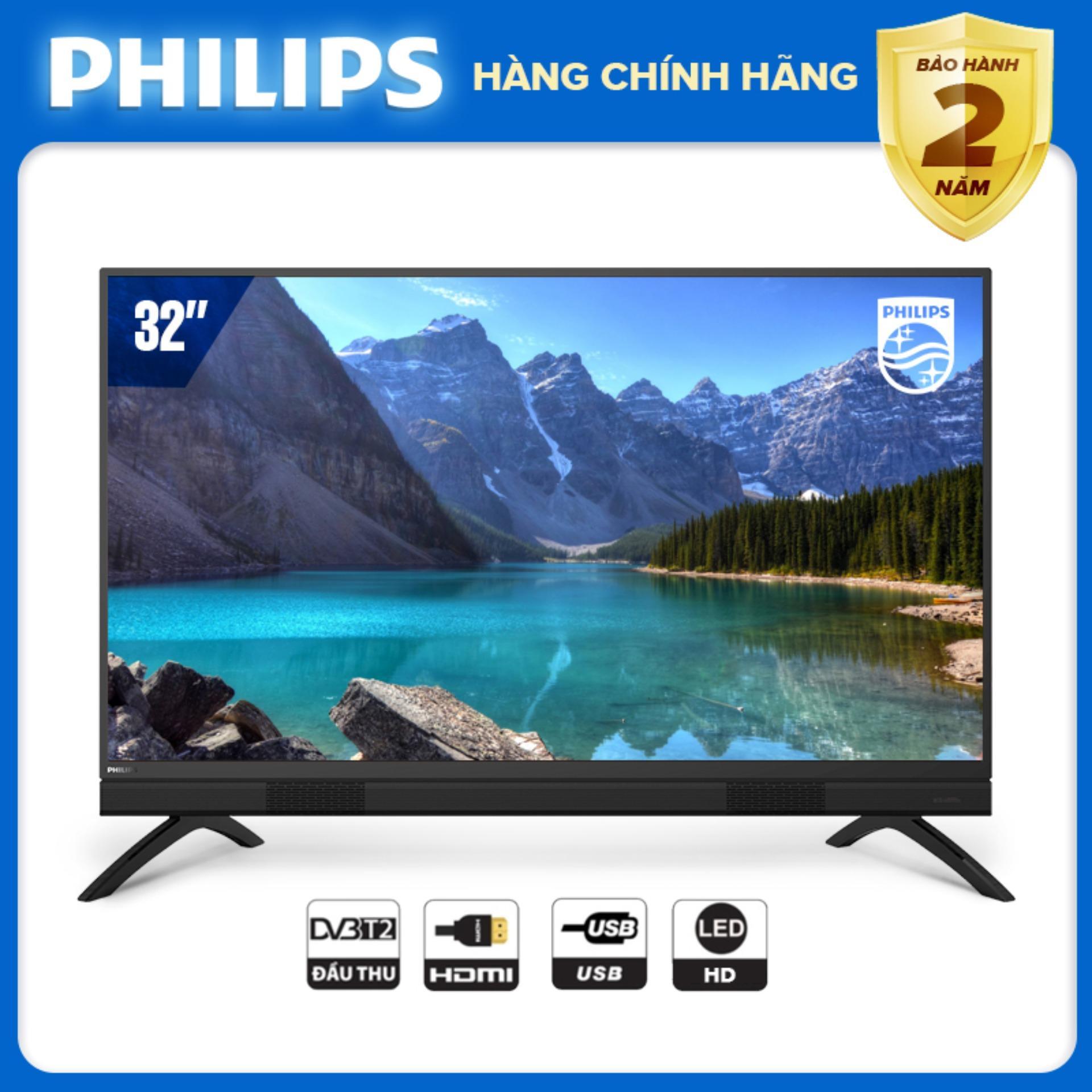 TIVI PHILIPS 32 INCH LED HD (Digital TV DVB-T2 hàng Thái Lan) tivi giá rẻ - Tặng USB xinh xắn - Bảo hành 2 năm tại nhà - Hàng chính hãng giấy tờ đầy đủ - 32PHT5583/74 Tivi Philips